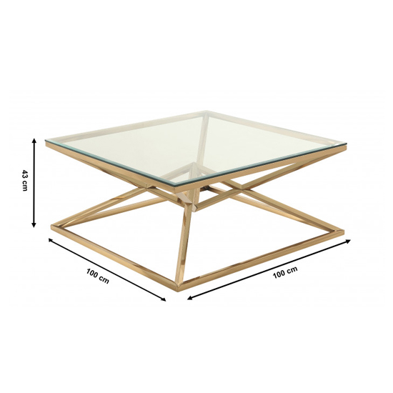 Parma Square Clear Glass Coffee Table With Gold Steel Legs_3