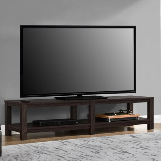 Parsons Wooden Large TV Stand In Espresso