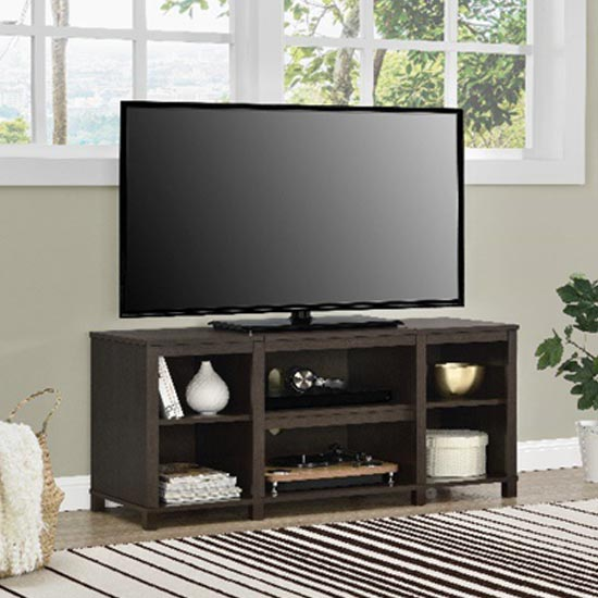 Parsons Wooden Small TV Stand In Espresso