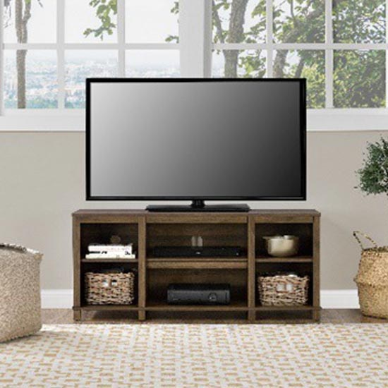 Parsons Wooden Small TV Stand In Walnut
