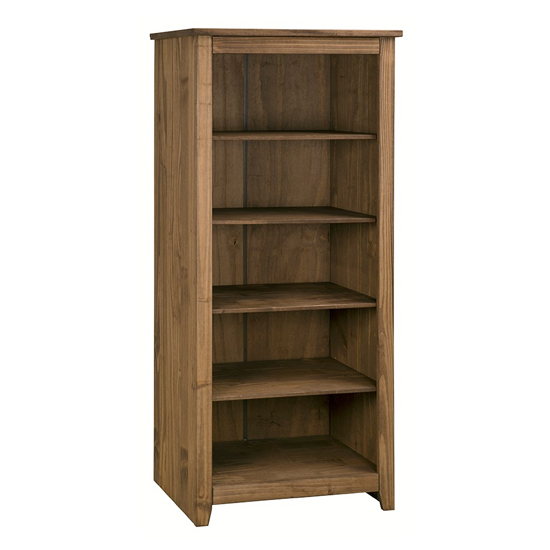 Product photograph showing Pascal Wooden Open Shelves Bookcase In Pine