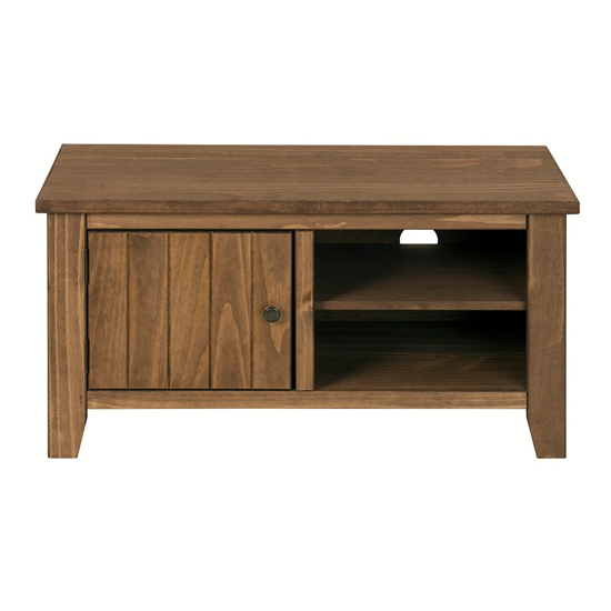 Pascal Wooden TV Unit In Pine With 1 Door And Shelve