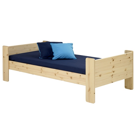 Pathos Wooden Single Bed In Pine