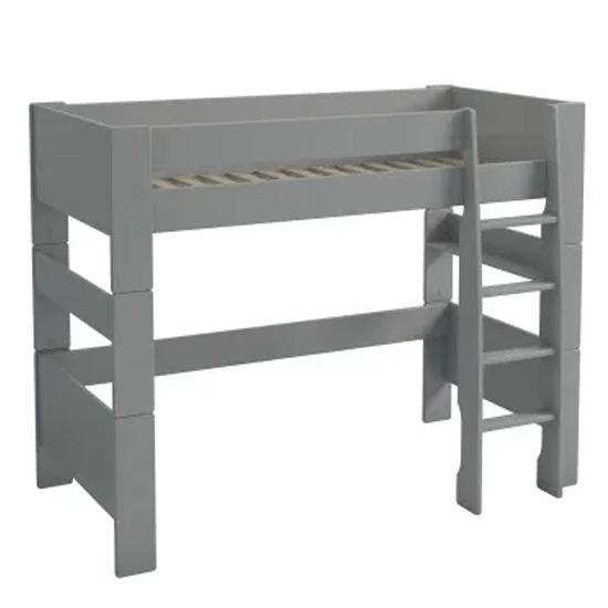 Pathos Wooden Highsleeper Children Bunk Bed In Grey