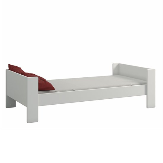 Pathos Wooden Single Bed In Pure White