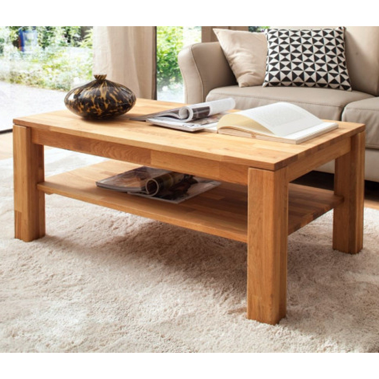 Paul Wooden Coffee Table In Oak