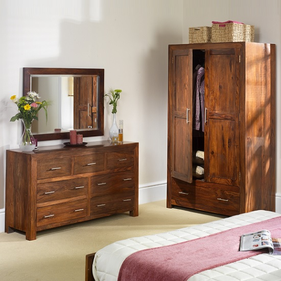 Payton Wooden Bedroom Wall Mirror Tall In Sheesham Hardwood_3