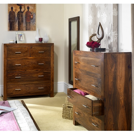 Payton Wooden Bedroom Wall Mirror Tall In Sheesham Hardwood_4
