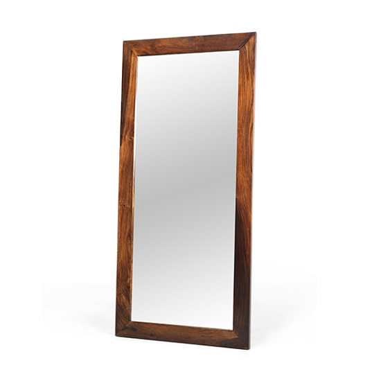 Payton Wooden Bedroom Wall Mirror Tall In Sheesham Hardwood
