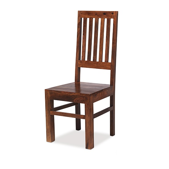 Payton Wooden High Back Dining Chair In Sheesham Hardwood