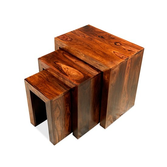 Payton Wooden Nest Of 3 Tables In Sheesham Hardwood_1