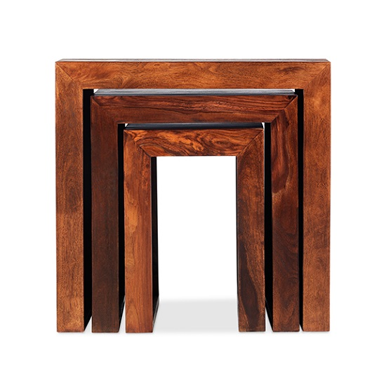 Payton Wooden Nest Of 3 Tables In Sheesham Hardwood_3