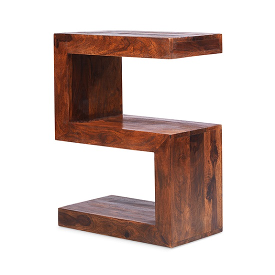 Payton Wooden S Shaped Display Stand In Sheesham Hardwood_2