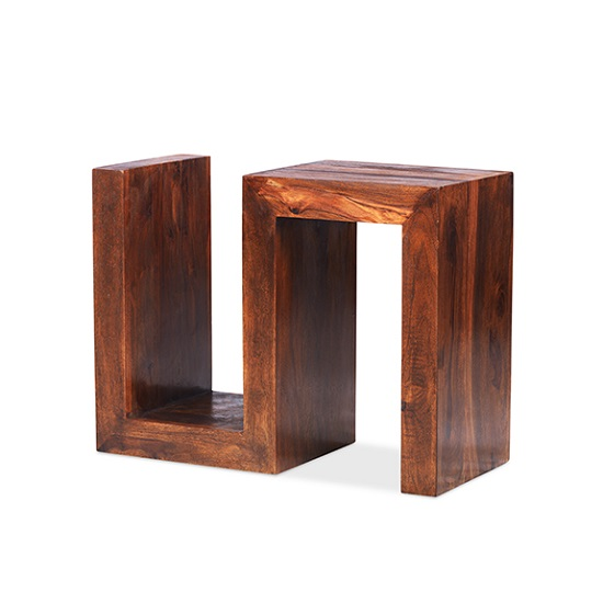 Payton Wooden S Shaped Display Stand In Sheesham Hardwood_3