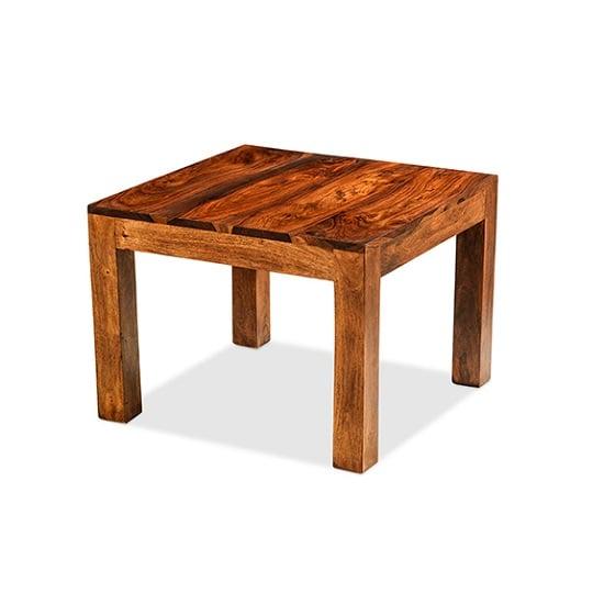 View Payton wooden coffee table square in sheesham hardwood