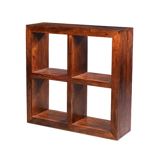 Payton Wooden Display Stand Square In Sheesham Hardwood_1