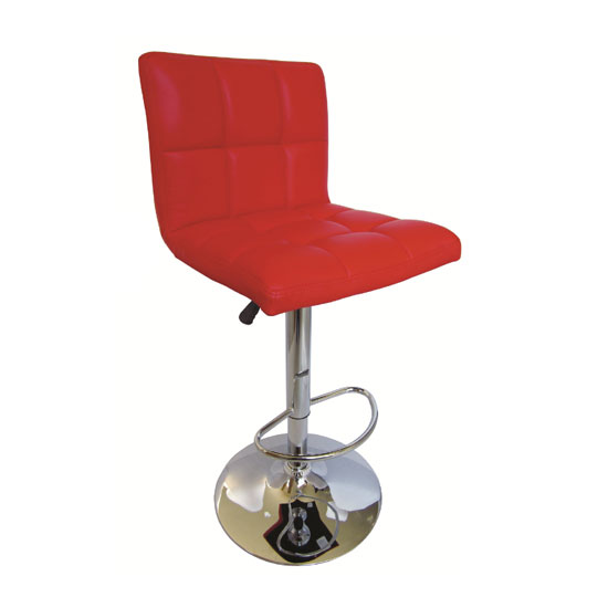 Blenheim Bar Stool High Back In Red