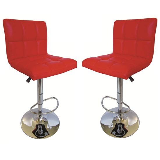 Special Offer!!Blenheim High back Bar Stools in Red,2 for £130