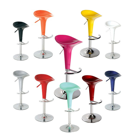 pazifik bar stool pink blue yellow - Give a Vibrant and New Look to Your Kitchen