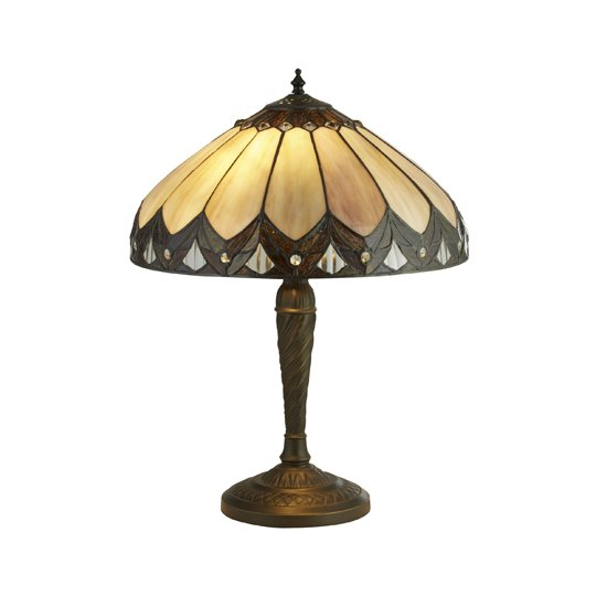 Pearl Tiffany Table Lamp In Multicolour