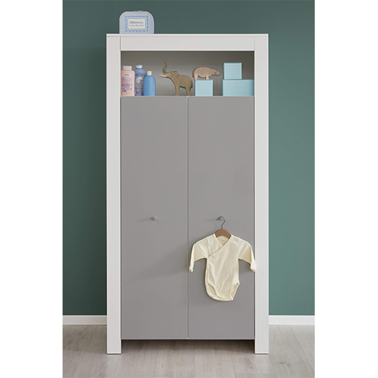 Peco Baby Room Wooden Furniture Set 1 In White And Light Grey_3