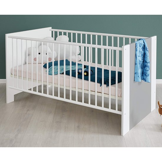 Peco Baby Room Wooden Furniture Set 1 In White And Light Grey_5