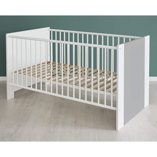 Peco Baby Room Wooden Furniture Set 1 In White And Light Grey_6