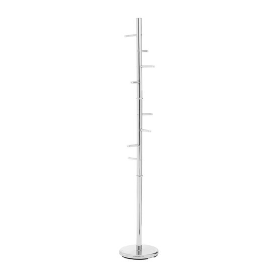 Pekon Floor Standing Metal Coat Stand In Chrome