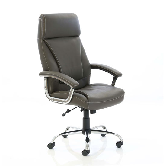 Penza Leather Executive Office Chair In Brown