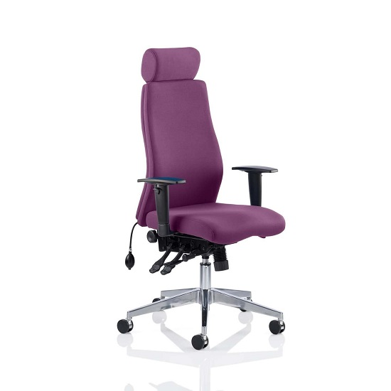 Penza Office Chair In Tansy Purple With Adjustable Arms
