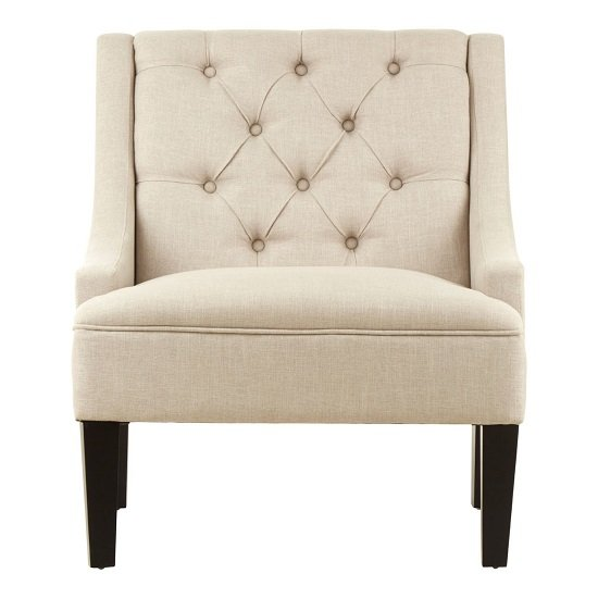 Perale Natural Toned Linen Upholstered Bedroom Chair