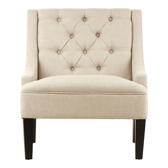 Marfak Natural Toned Linen Upholstered Bedroom Chair