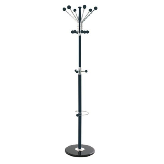 Percy Coat/Hat Stand In Black-Chrome