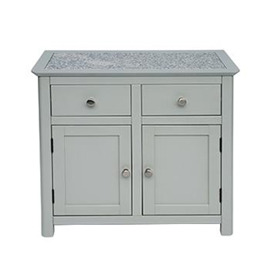 Perth Stone Inset Top Sideboard With 2 Doors And 2 Drawers