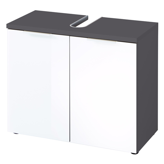 Pescara Basin Vanity Unit In Graphite And White