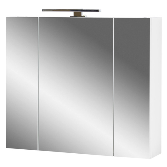 Pescara Bathroom Mirrored Cabinet In White
