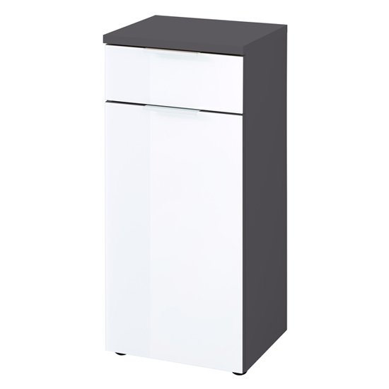 Pescara Bathroom Storage Cabinet In Graphite And White