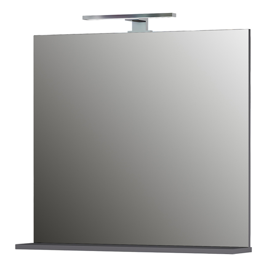 Pescara Bathroom Wall Mirror With Graphite Frame_1