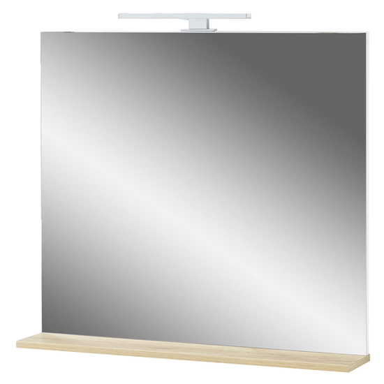 Pescara Bathroom Wall Mirror With Navarra Oak Frame