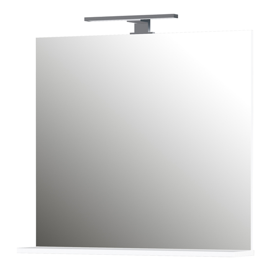 Pescara Bathroom Wall Mirror With White Frame