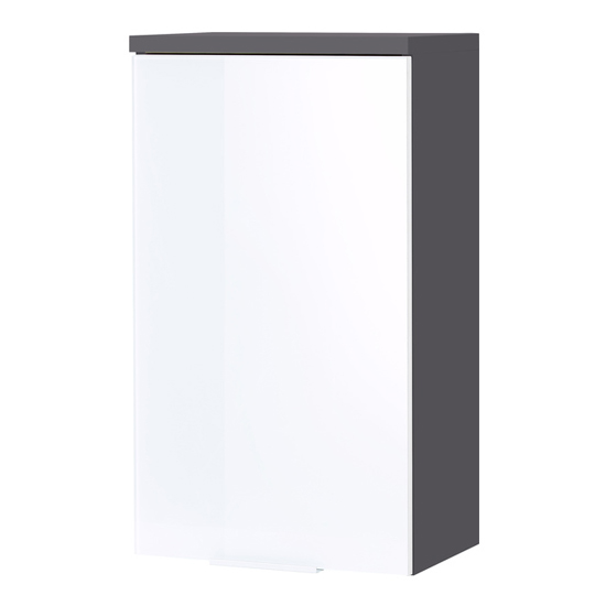 Pescara Wall Bathroom Storage Cabinet In Graphite And White