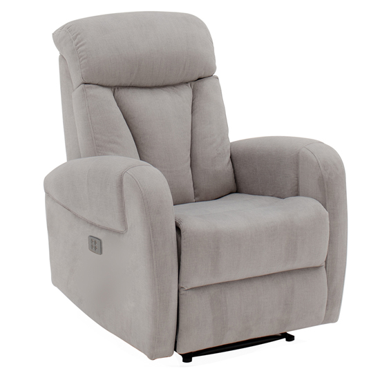 Phoebe Electric Dual Motor Fabric Recliner Chair In Grey