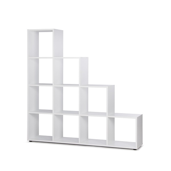 Phoenix Display Unit In White With 4 Tier And 10 Compartments_2