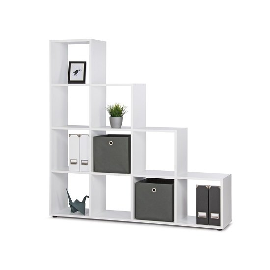 Phoenix Display Unit In White With 4 Tier And 10 Compartments_3