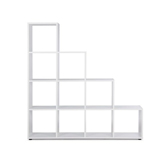 Phoenix Display Unit In White With 4 Tier And 10 Compartments_4