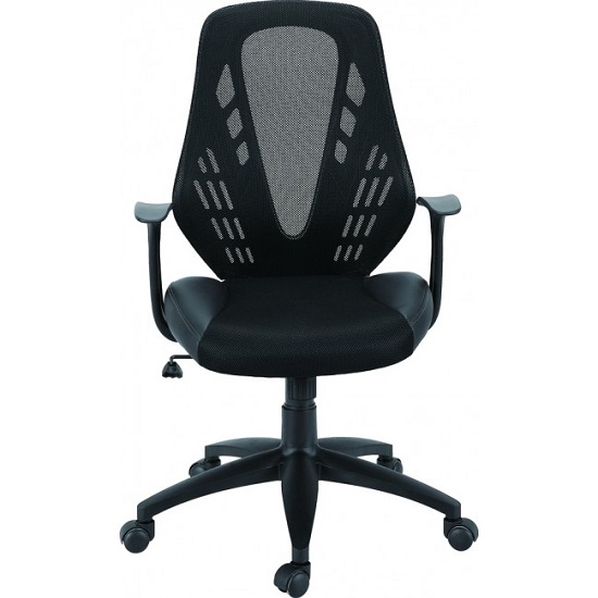 Phoenix Home Office Chair In Black With Castors