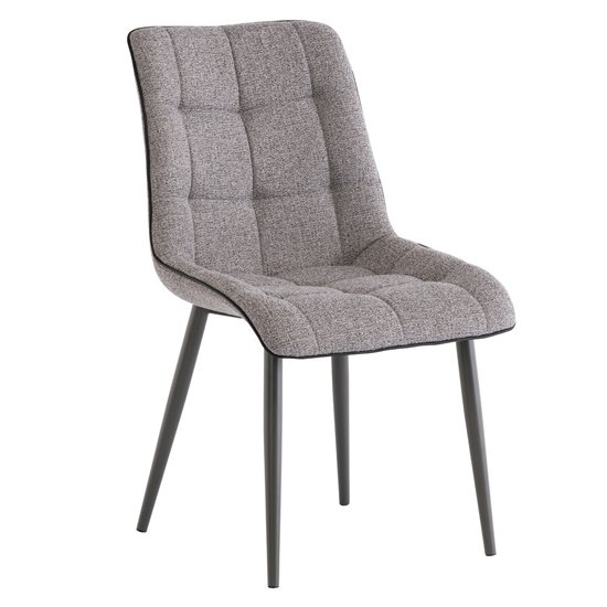 Picasso Fabric Upholstered Dining Chair In Grey