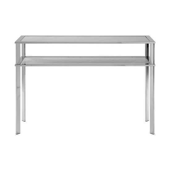 Piermount Steel Console Table With White Porcelain Tiers
