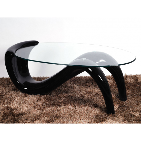 Pike Glass Top Coffee Table