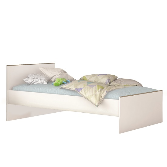 Pilot Modern Childrens Bed In White And Clay